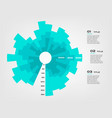 sunburst chart color infographics step by step in vector image vector image