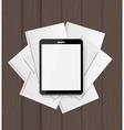 Superiority E-Book Over Paper Books Concept vector image vector image