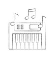 synth console with notes vector image