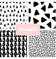 triangles pattern collection vector image vector image