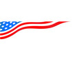 usa flag corner banner with stars vector image