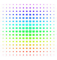 users icon halftone spectral pattern vector image vector image