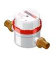 Water meter isometric icon vector image vector image