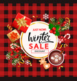 winter sale card for 2021 shopping season vector image vector image