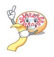 with menu jelly donut mascot cartoon vector image vector image