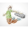 Abstract skateboarder vector image