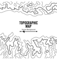 Contour Topographic Map Geography Wavy vector image
