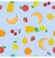 Seamless - fruits on blue vector image