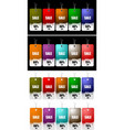set of discount sale tag vector image