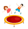 abstract cartoon of a bright colored trampoline vector image