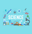 science concept flat style vector image