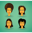 Women model hairstyle vector image