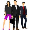 al 0912 businessmen vector image
