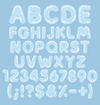 alphabet letters numbers signs made plastic vector image vector image