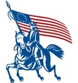 American revolutionary general riding horse Betsy vector image