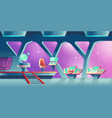 background with interior of spaceship vector image vector image