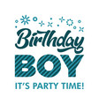 birthday boy invitation greeting card vector image