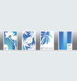 blue exotic cover set vector image vector image