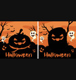 border template with halloween creatures vector image