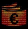 bright dot euro checkbook icon vector image vector image