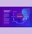 business strategy brochure template vector image vector image