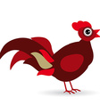 cartoon a rooster on a white background vector image vector image