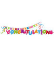 congratulations design with ribbon and confetti vector image vector image