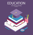 creative isometric education success education vector image vector image
