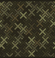 cross pavement ornament seamless pattern vector image vector image