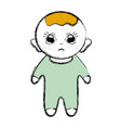 cute baby boy with hairstyle and clothes vector image vector image