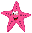 cute starfish cartoon vector image vector image