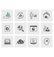 data analysis icon set isolated for vector image vector image