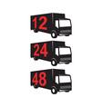 Delivery Truck Retro vector image vector image