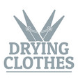 drying clothes logo simple gray style vector image vector image