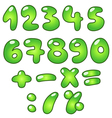 eco bubble numbers vector image vector image