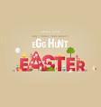 egg hunt banner vector image vector image