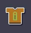 fashion patch sale sticker t-shirt vector image