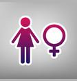 female sign purple gradient vector image vector image