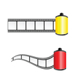 film tape color vector image