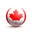 flag of canada in the form of a ball vector image