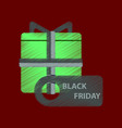 flat shading style icon gift box black friday vector image vector image