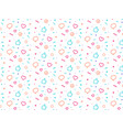 fun party style seamless pattern vector image vector image