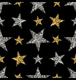 gold and silver stars vector image vector image