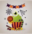 happy halloween celebration day vector image vector image