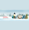 holiday christmas panorama with a winter vector image vector image