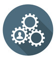 human resourse managment icon gears vector image