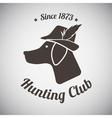 Hunting Emblem vector image vector image