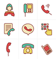 Icons Style Phone icons vector image vector image