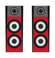 isolated pair of speakers vector image