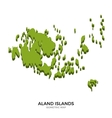 Isometric map of Aland Islands detailed vector image vector image